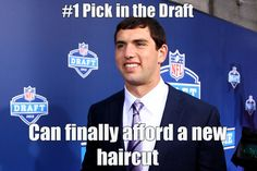Andrew Luck needs a new haircut