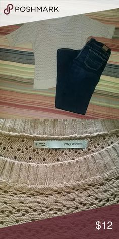 Tan Knit Sweater Lightweight knit sweater perfect for layering. EUC. Maurices Sweaters Crew & Scoop Necks