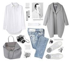 minimal. by yexyka on Polyvore featuring polyvore, fashion, style, Band of Outsiders, MM6 Maison Margiela, Miss Sixty, Maison About, Pieces, Bobbi Brown Cosmetics, Topshop and Tiffany & Co.