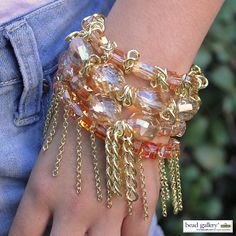 DIY Indian Summer bracelets featuring Bead Gallery beads available at Michaels Stores #madewithmichaels