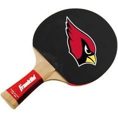 Arizona Cardinals Table Tennis Paddle by Franklin. $11.95. Rubber grip. Perfect for any patio, living room or fan cave. Officially licensed NFL product. Pips-in rubber facing. Show off your ultimate team pride at halftime or in the off-season when you challenge rival fans in a game of team-spirited table tennis! This 5-ply wooden paddle features a laminated tapered handle with grip, a rubber face and sponge foam backing. It also displays a vibrant team logo on eac...