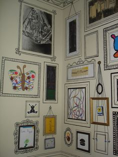 Sharpie Frame Gallery. Totally Doing This!!