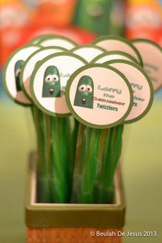 "Photo 1 of 12: VeggieTales, Veggie Tales, red, green / Birthday ""Wilson's VeggieTales Party"" | Catch My Party                                                                                                                                                                                 More"