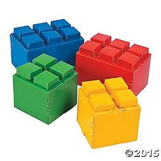 Looking for ways to accent your tables at your next birthday party? Place these Color Brick Party Centerpieces on your table for a great addition to your ... Birthday Party Places, Lego Birthday Party, Sons Birthday, Birthday Parties, Birthday Ideas, Simple Table Decorations, Simple Centerpieces, Party Centerpieces, Lego Party Decorations