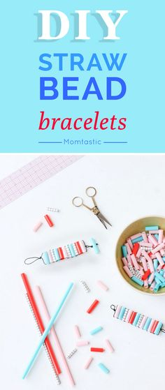If you're looking for an easy project to keep little hands busy after school, try these DIY straw bead bracelets. I love projects that only require a few supplies, and this DIY only requires four. With the exception of cutting the beads, kids can be left on their own to complete these wearable works of art.