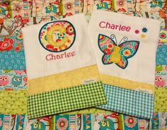 A personal favorite from my Etsy shop https://www.etsy.com/listing/292024513/custom-made-burp-cloths-set-of-two