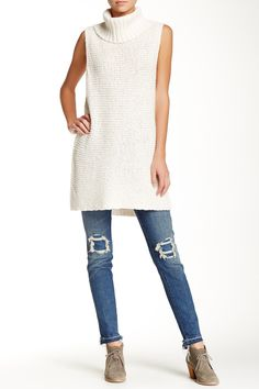 Knit Turtleneck Tunic Tank by Free People on @nordstrom_rack