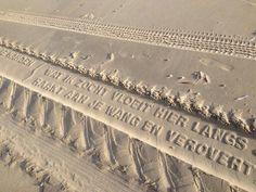 Deze tekst laten de banden van de Vliehorsexpres achter Vlieland