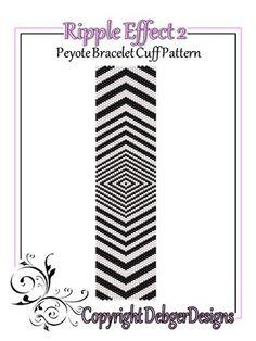 Ripple+Effect+2+-+Beaded+Peyote+Bracelet+Cuff+Pattern
