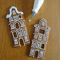 Ideas   How to Bake a Village of Gingerbread Houses Ikea Gingerbread House, Gingerbread House Template, Christmas Mugs, Christmas 2019, Christmas Cookies, Different Types Of Houses, Royal Icing Transfers, Bread Man, Piping Tips