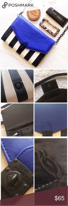 Steve Madden Crossbody Bag This bag is so cute! It is not in new condition, but it is still in good condition. The flaws are shown above. 9in. x 6.5in. 10221612.  ✅Reasonable offers welcome! ✅BUNDLE DISCOUNTS! 🚫No trades/paypal/other apps. 🚫No lowball offers. Steve Madden Bags Crossbody Bags