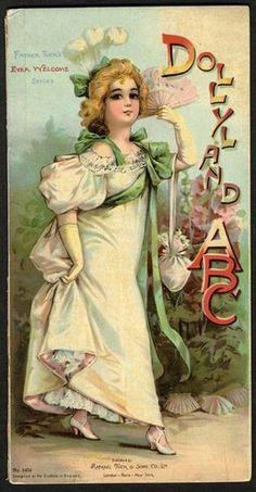 DOLLY and ABC - RAPHAEL TUCK - FRANCES BRUNDAGE Book - 1890s