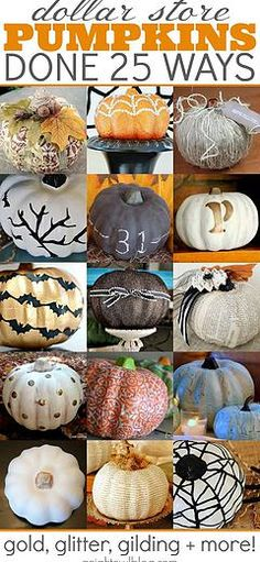 Kaila's Place| Pumpkins done 25 ways