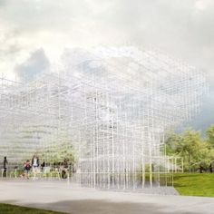 This year's Serpentine Gallery Pavilion, Hyde Park, London - to be designed by Sou Fujimoto