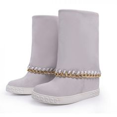 Chain top hidden wedge boots from CHIKO Shoes