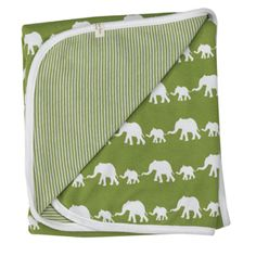 reversible blanket (silhouette), green elephant organics for kids £22.30 +vat