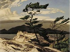 "gladsdotter:  wasbella102:  ""White Pine"" by the Canadian artist A.J. Casson"