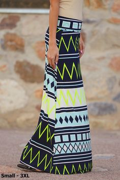 Take A Chance On Me Maxi Skirt - Neon Green