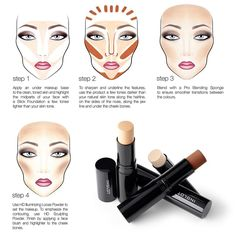 Contour and highlight with Inglot Stick Foundation