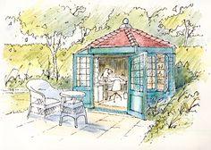Summerhouse ~ sketch ~ John Edwards