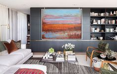 Landscape Painting Abstract Oil Painting Large by CelineZiangArt