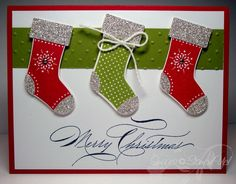 Stitched Stockings & punch, Hand Penned Holidays
