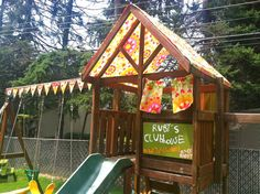 Plan Me A Party & Pretti Mini Party Goods: Swing Set Make-Over: Summer DIY Project!