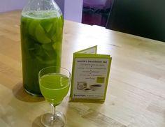 Recipe - Matcha, ginger & cucumber iced tea