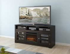West Lake TV Stand with Electric Fireplace