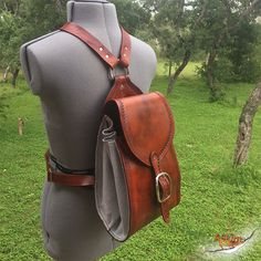 Items similar to Handcrafted Leather Antique Saddle Tan Backpack - Hand Stitched Leather Purse Bag - Adjustable Strap Length on Etsy Grimm, Leather Bag Pattern, Stitching Leather, Leather Bags Handmade, Leather Craft, Backpacks For Sale, Leather Projects, Leather Purses, Leather Totes