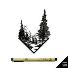 Landscape Tattoo Geometric Ink Ideas For 2019 Dotted Drawings, Pencil Art Drawings, Tattoo Drawings, Body Art Tattoos, Sleeve Tattoos, Tatoos, Natur Tattoos, Geometric Nature, Minimalist Landscape