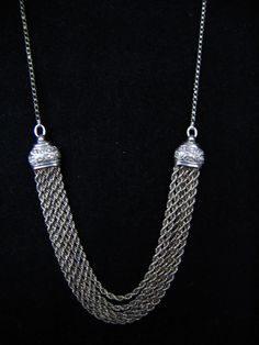 Valentine STERLING SILVER NECKLACE  Vintage by pegi16 on Etsy $54.99