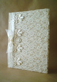 Shabby Chic Lace Journal Diary Notebook Guestbook