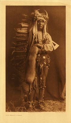 Bruce Kapson Gallery : Iron Breast-Piegan (Portfolio 6 Plate #206) by Edward S. Curtis