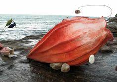 'Sea Shells' (2007) by Icelander felt artist Anna Gunnarsdóttir for Sculpture by the Sea, Bondi. Photo by Samantha Burns. via Sculpture International