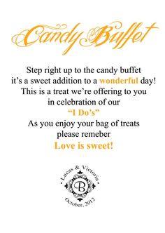 Weddingbee Candy Buffet Sign Update Wedding Black Diy Inspiration Orange Reception Ideas