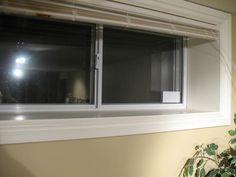how drywall meets window jamb (basement) Basement Carpet, Basement Windows, Wicker Porch Swing, Window Jamb, White Porch, Basement Studio, Sliding Panels, Building A Porch, Porch Roof