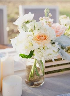 LOVE the colors!!     lace, Spring, Summer, rustic, centerpieces, decor, floral, flowers, gold, mint, seafoam, table, green, wedding, wed, Chapel Hill, Texas