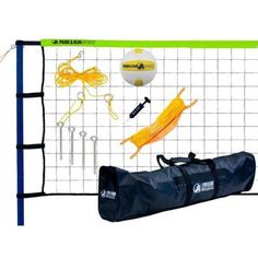 Spiker Sport Steel Volleyball Set w/ Green Net