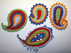 Paisley x4 crochet pattern by CAROcreated on Etsy