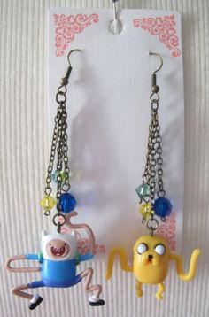 Adventure Time: Finn and Jake Mathmatical BFF Earrings. $22.00, via Etsy.