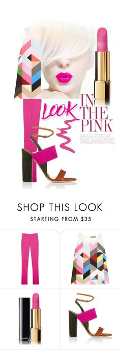 """""""Bright Pink Lipstick"""" by alevalepra ❤ liked on Polyvore featuring beauty, Preen, Chanel, Paul Andrew, NYX, Too Faced Cosmetics and pinklips"""