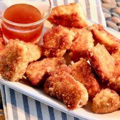 Homemade crispy chicken nuggets made with a crispy rice cereal coating are a quick and easy meal your kids will love. Chicken Nugget Recipes, Chicken Tender Recipes, Crispy Chicken, Boneless Chicken, Chicken Nuggets, Quick Meals For Kids, Kids Meals, Nuggets Recipe, Turkey Dishes