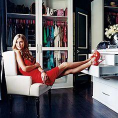chic modern closet