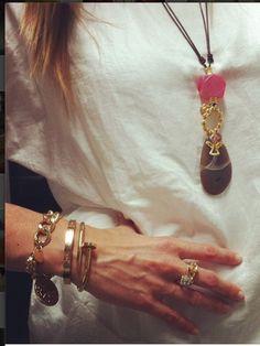 Charlotte design 30€ el collar y la pulsera de eslabones 18€, las otras dos la de tornillos 50€ y la del clavo también 50€.