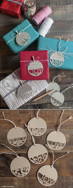 Paper Cut Holiday Gift Tags