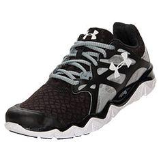 Men's Under Armour Micro G Monza Running Shoes| FinishLine.com | Black/White