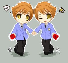 Ouran Chibis no.2 - Twins by ~bagsybabe on deviantART