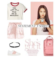 """""""Pink Ocean"""" by lydiarts ❤ liked on Polyvore featuring Fjällräven, Kismet by Milka and Valentino"""