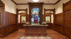 Stained glass of Savior at main entrance to Provo City Center Temple is so beautiful it made me cry.